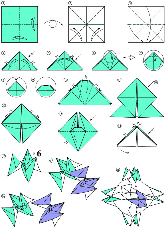 Origami Shuriken Instructions
